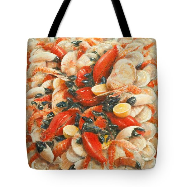 Seafood Extravaganza Tote Bag by Lincoln Seligman