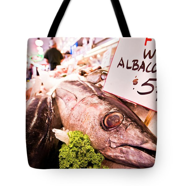 Seafood On Display At Pike Place Market Tote Bag