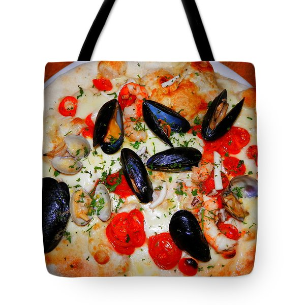 Seafood Pizza Tote Bag by Pema Hou