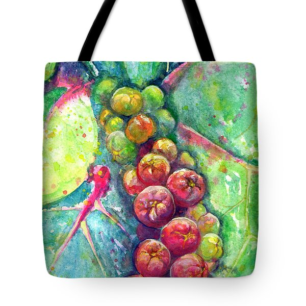 Tote Bag featuring the painting Seagrapes by Ashley Kujan