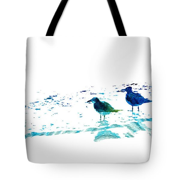 Seagull Art - On The Shore - By Sharon Cummings Tote Bag by Sharon Cummings