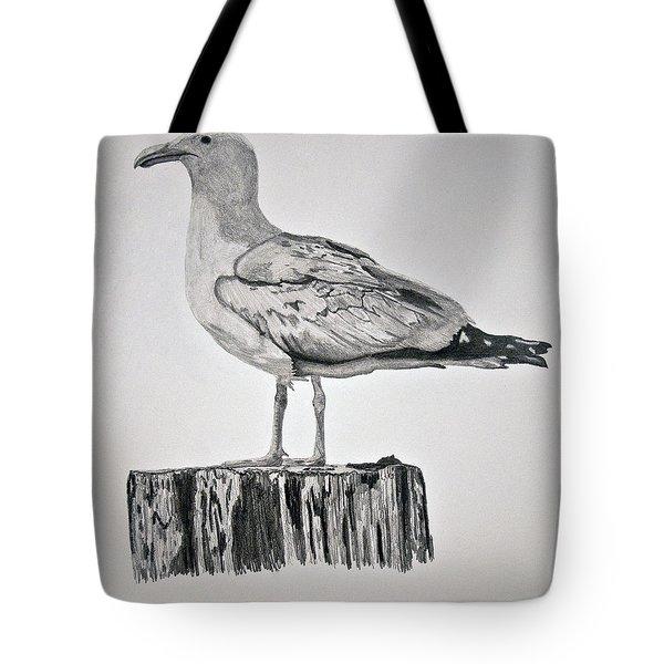 Seagull Tote Bag by Chamar Radloff