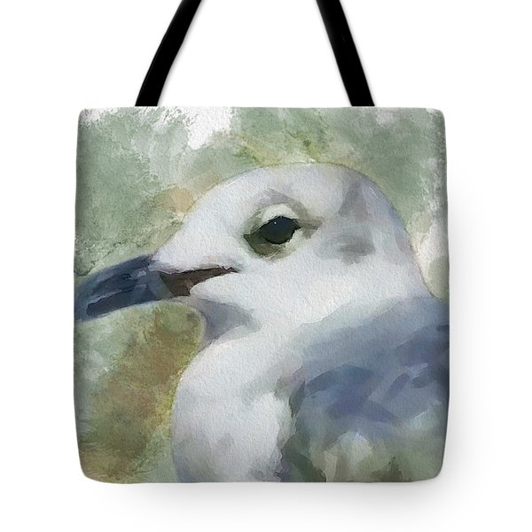 Tote Bag featuring the painting Seagull Closeup by Greg Collins