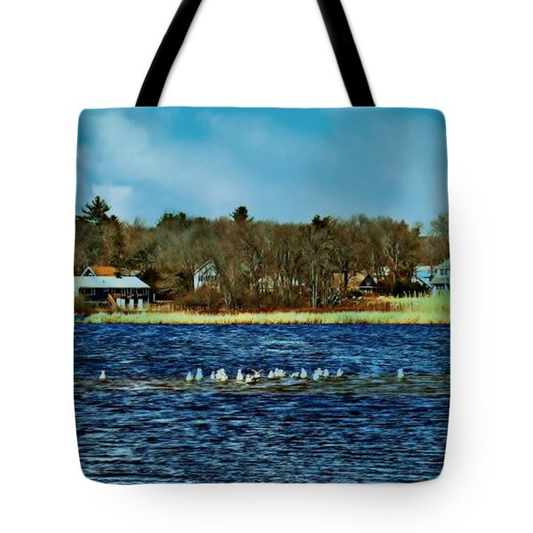Seagull Gathering Tote Bag by Barbara S Nickerson