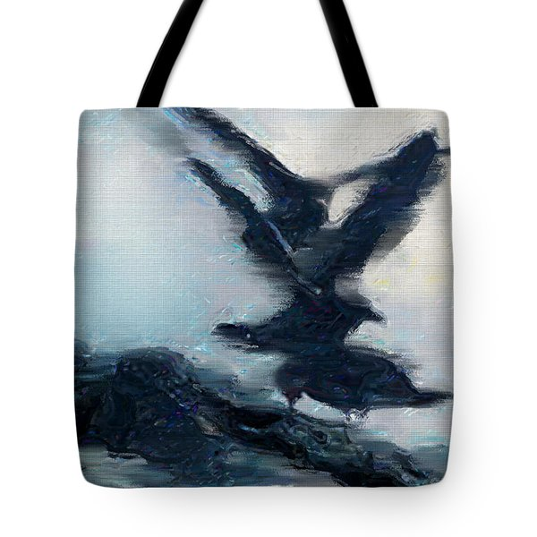 Seagull Grace Tote Bag by Betty LaRue