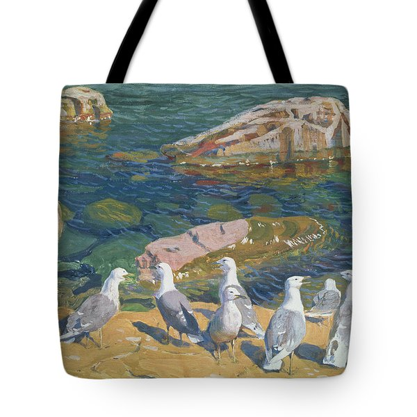 Seagulls Tote Bag by Arkadij Aleksandrovic Rylov