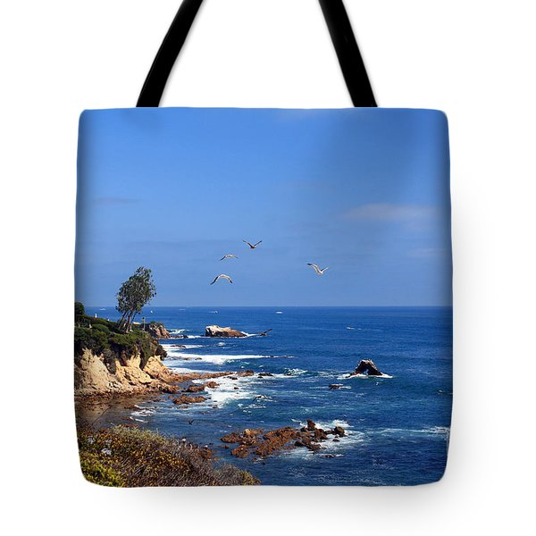 Seagulls At Laguna Beach Tote Bag