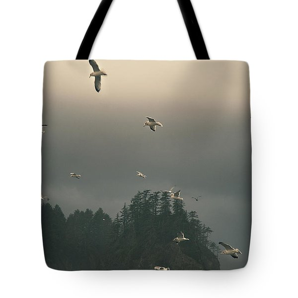 Seagulls In A Storm Tote Bag