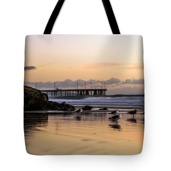 Seagulls On The Coast Tote Bag by Mike Ste Marie