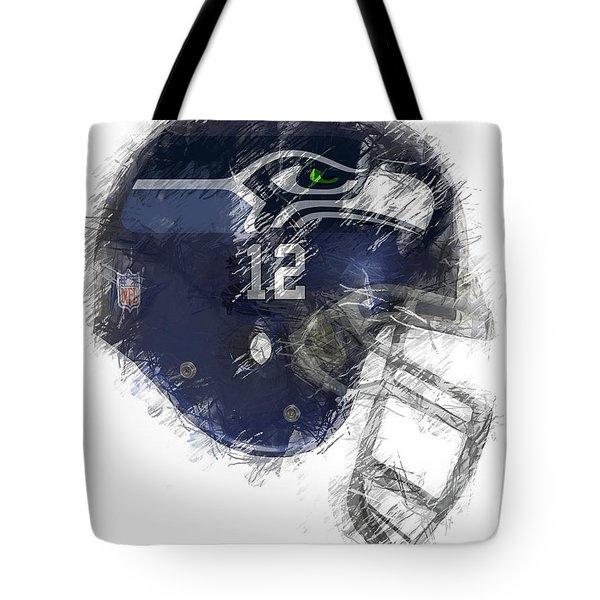 Seahawks 12 Tote Bag