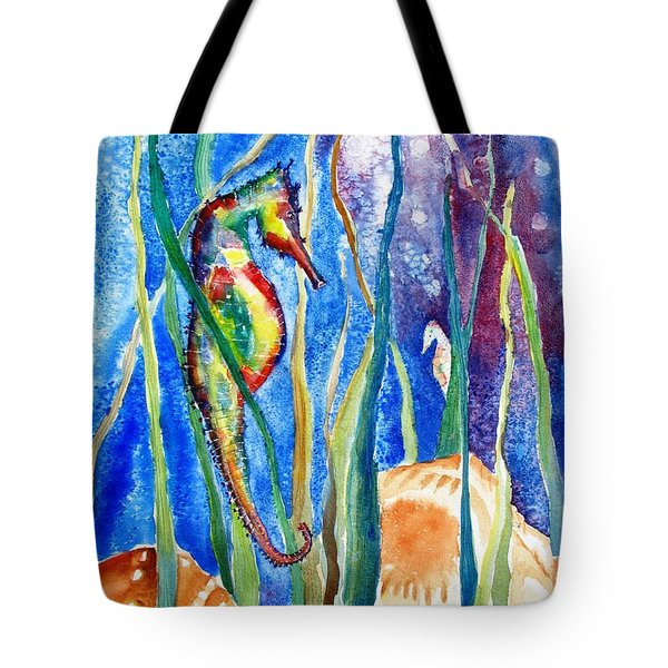 Seahorse And Shells Tote Bag