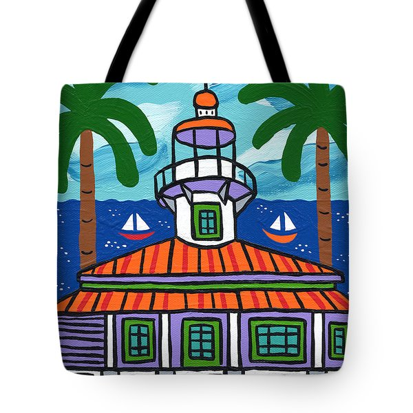 Seahorse Key Lighthouse Tote Bag