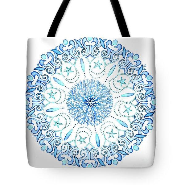 Seahorse Mandala Tote Bag