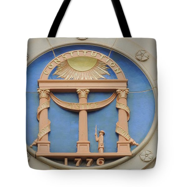 Tote Bag featuring the photograph seal of Georgia by Aaron Martens
