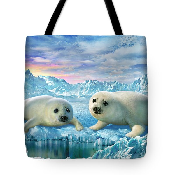 Seal Pups Tote Bag by Adrian Chesterman