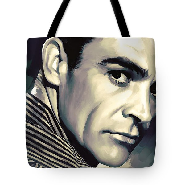 Sean Connery Artwork Tote Bag by Sheraz A