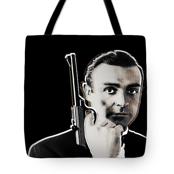 Sean Connery James Bond Vertical Tote Bag by Tony Rubino