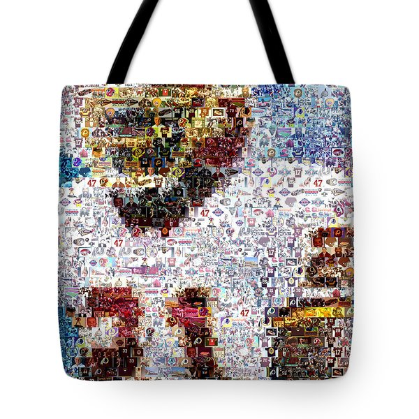 Sean Taylor Mosaic Tote Bag by Paul Van Scott