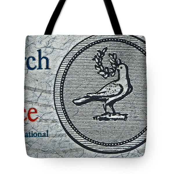 Search For Peace Tote Bag by Bill Owen