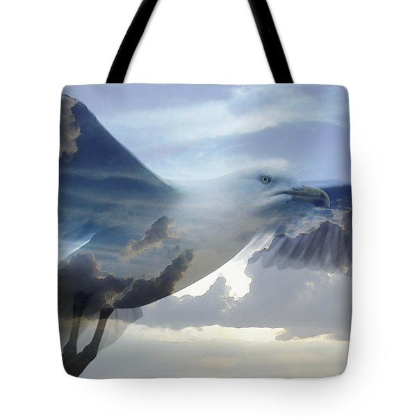 Searching The Sea - Seagull Art By Sharon Cummings Tote Bag