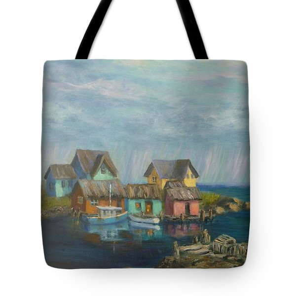 Seascape Boat Paintings Tote Bag