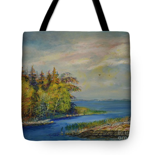 Seascape From Hamina 3 Tote Bag