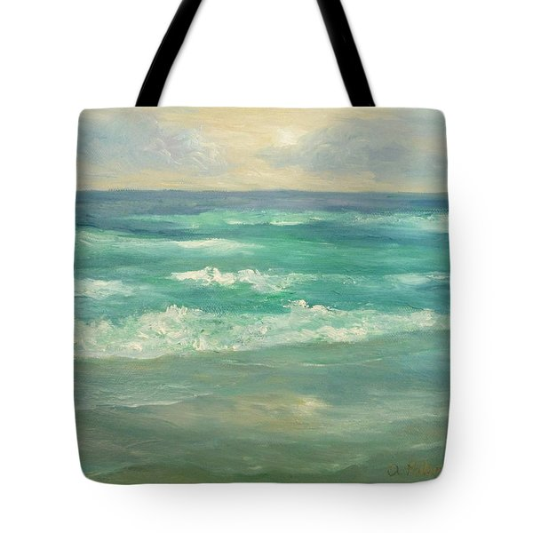 Seascape  Glowing Sunset Tote Bag