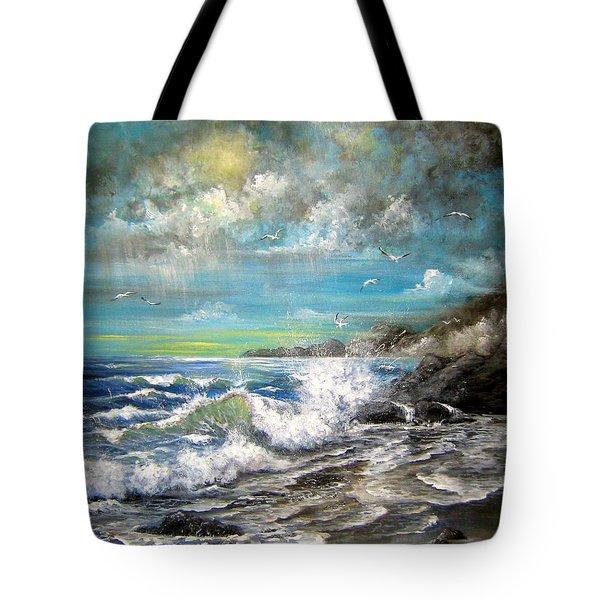 Monday's Rain Tote Bag