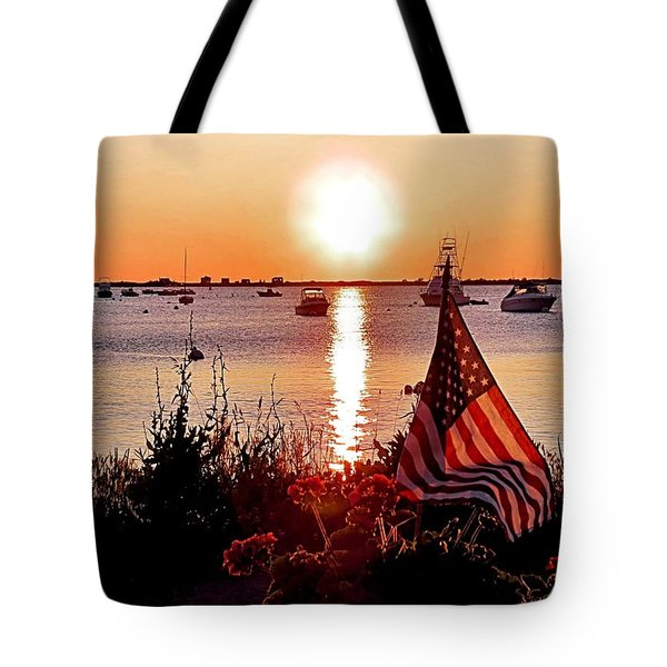 Seascape Sunrise Tote Bag