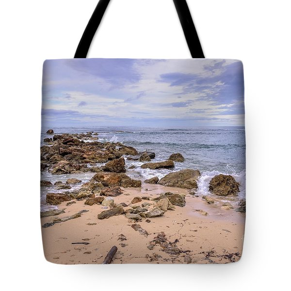 Seascape With Rocks Tote Bag