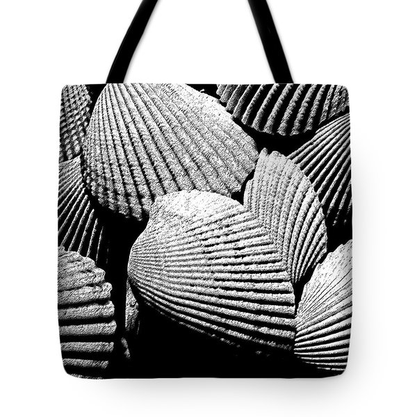 Tote Bag featuring the photograph Seashell Abstract by Mary Bedy