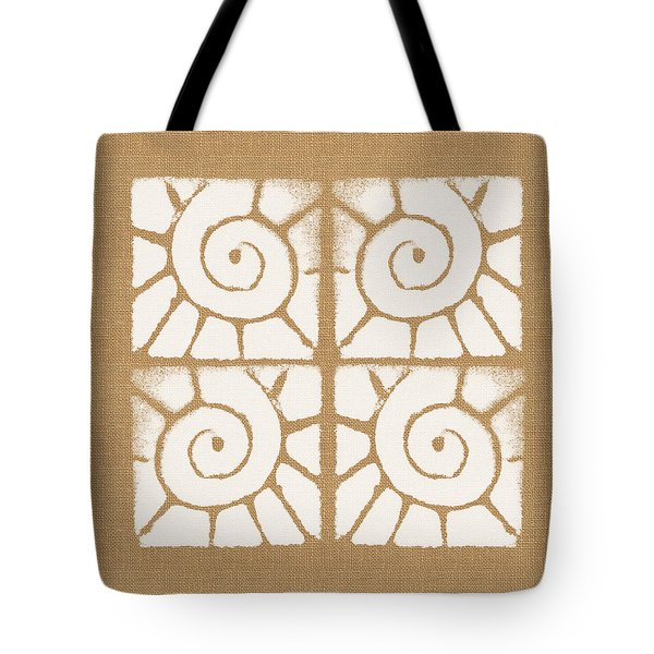 Seashell Tiles Tote Bag