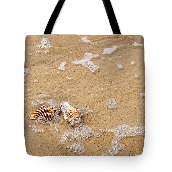 Seashells And Bubbles Tote Bag by Kaye Menner