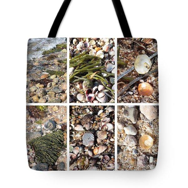 Seashore Collage Tote Bag by Carol Groenen