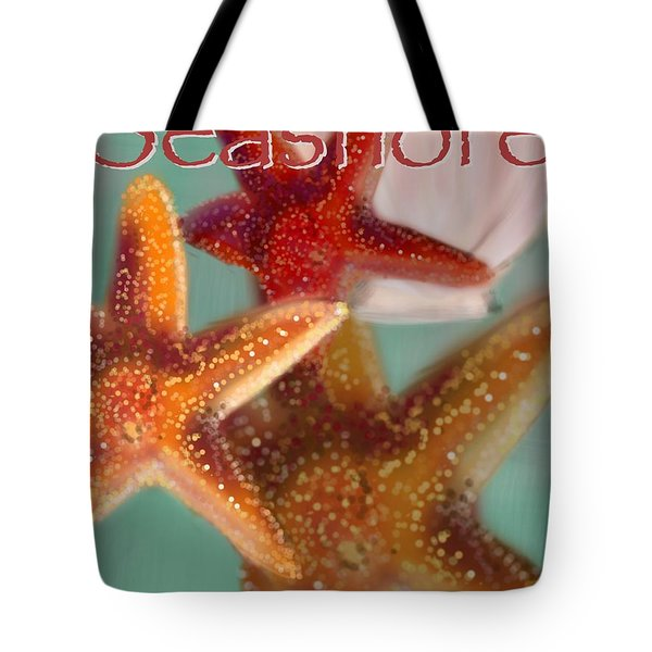 Seashore Poster Tote Bag by Christine Fournier