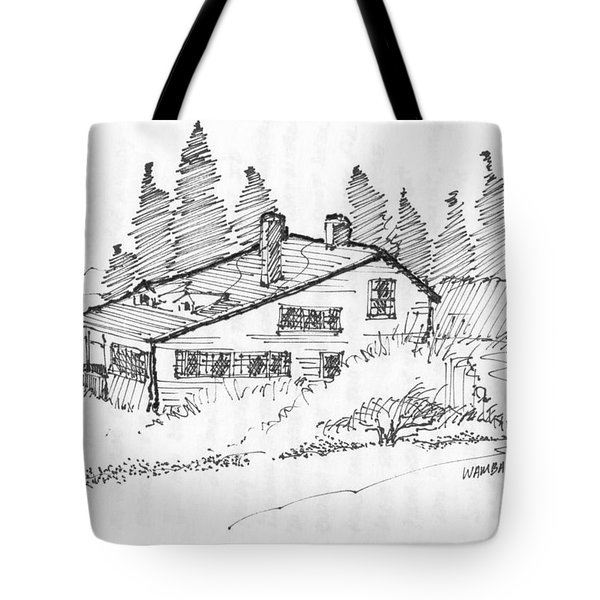 Seaside Cottage Monhegan Island 1993 Tote Bag