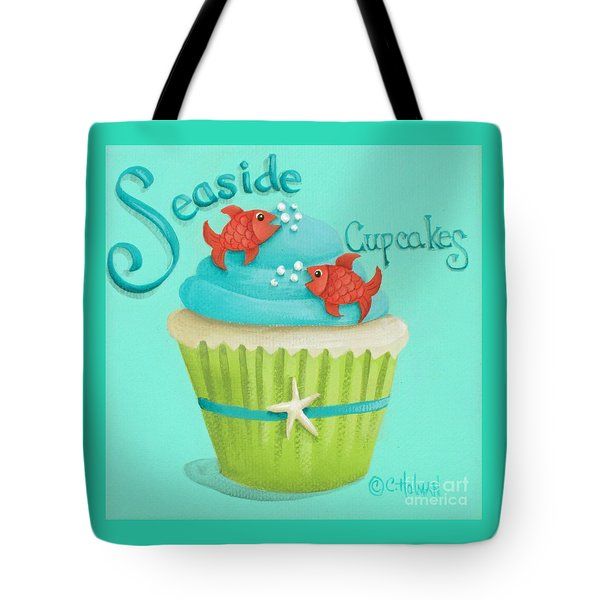 Seaside Cupcakes Tote Bag by Catherine Holman