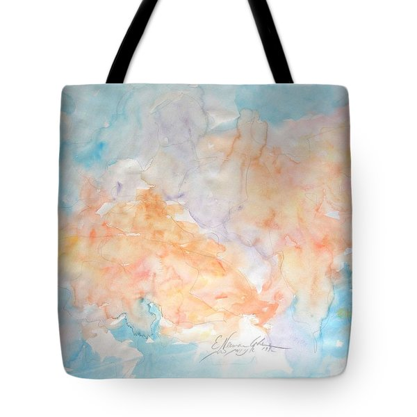 Tote Bag featuring the painting Seaside In Summer by Esther Newman-Cohen