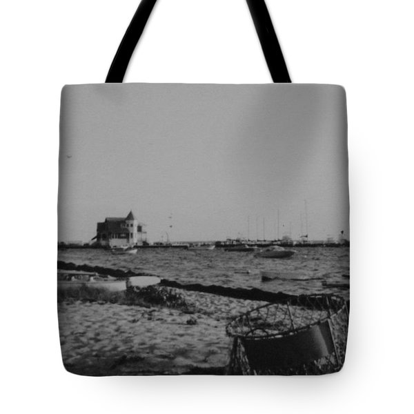Seaside Park Nj Yacht Club Bw Tote Bag by Joann Renner