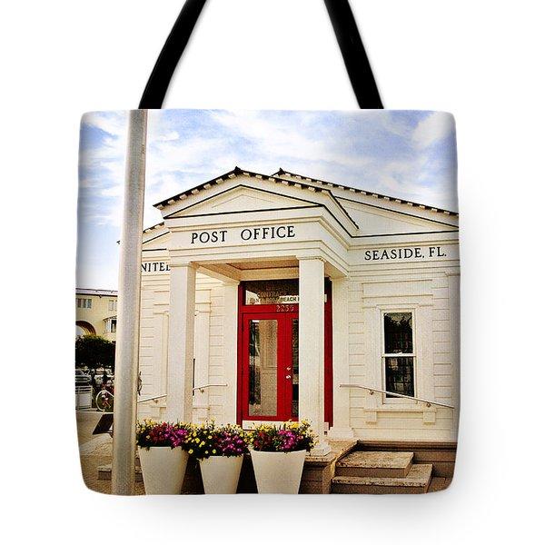 Seaside Post Office Tote Bag by Scott Pellegrin