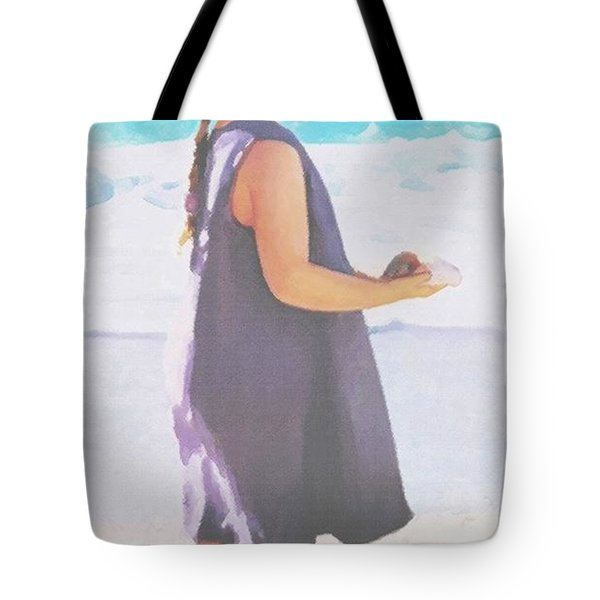 Tote Bag featuring the painting Seaside Treasures by Sophia Schmierer