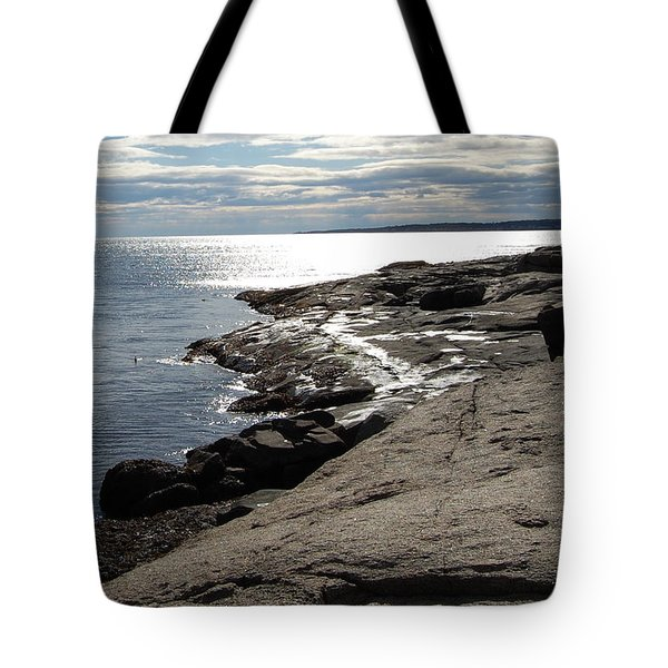 Tote Bag featuring the photograph Seasider by Mim White