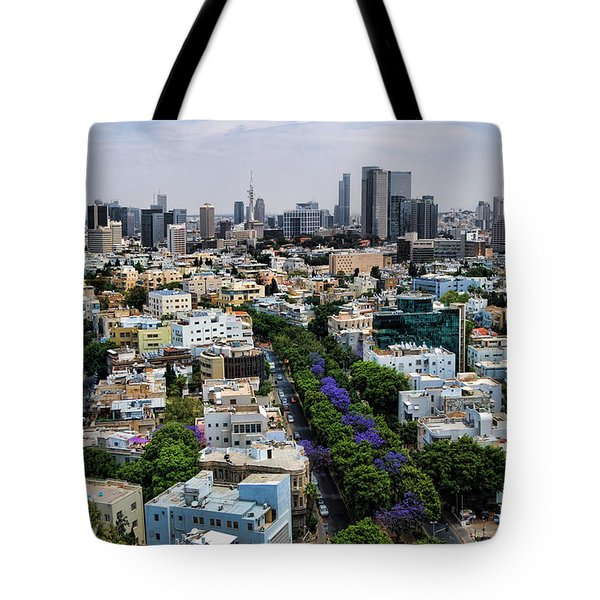 season change at Rothschild boulevard  Tote Bag