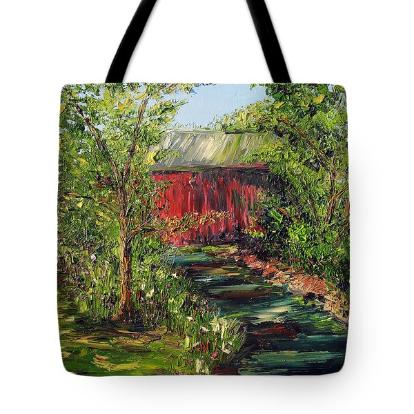 Tote Bag featuring the painting Season Of Singing by Meaghan Troup