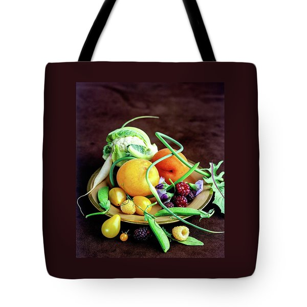 Seasonal Fruit And Vegetables Tote Bag by Romulo Yanes