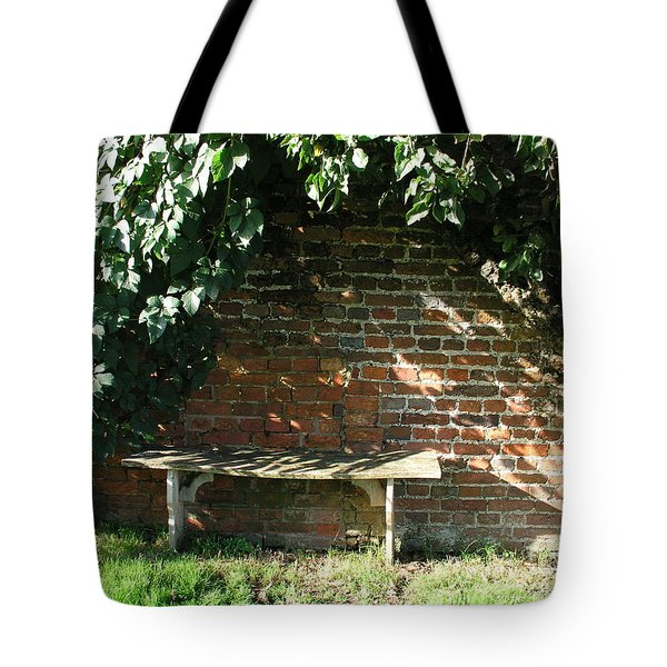 Seasoned Bench Tote Bag by Bev Conover