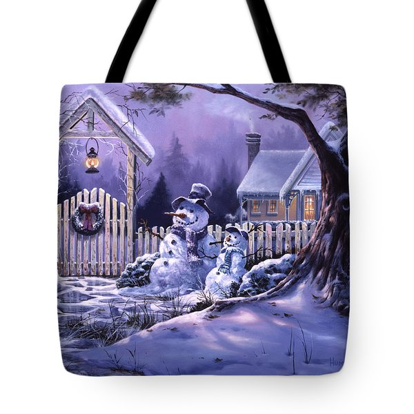 Season's Greeters Tote Bag by Michael Humphries