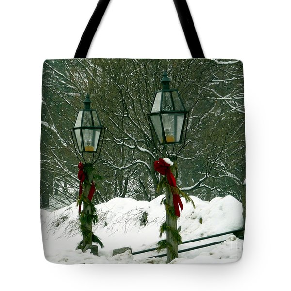 Season's Greetings Tote Bag by Jayne Carney