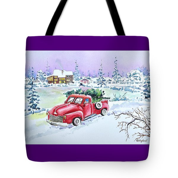 Winter Season Tote Bag