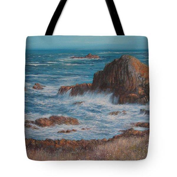 Seaspray Tote Bag by Valerie Travers
